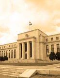 Headquarter of the Federal Reserve in Washington, DC, USA,FED, cyanotype Stock Photos