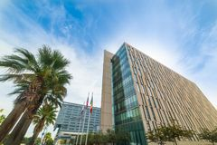 Headquarter of Los Angeles Police Department in downtown L.A. California Royalty Free Stock Image
