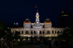 Headquarter of the People`s Committee of Ho Chi Minh City. The People`s Committee Building of Ho Chi Minh City was built in 1898 and was put into use in 1909. It Stock Images