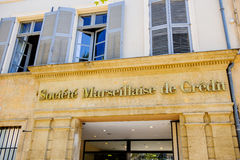 Headquarter of Societe Marseillaise de Credit Stock Photo