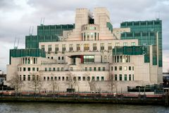 The Headquarters of the British Secret Intelligence Service Mi6. London, 18th January 2018:- The Headquarters of the British Secret Intelligence Service Mi6 Royalty Free Stock Photography