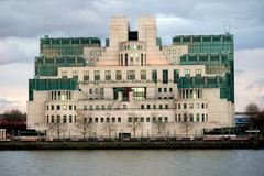 The Headquarters of the British Secret Intelligence Service Mi6. London, 18th January 2018:- The Headquarters of the British Secret Intelligence Service Mi6 Stock Photo