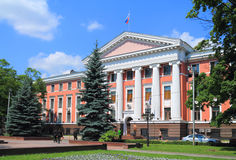 The headquarters building of the Baltic Fleet in Kaliningrad Royalty Free Stock Photo
