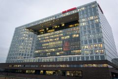 Der Spiegel Headquarters building, Hamburg, Germany royalty free stock photography
