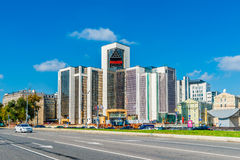 Headquarters of Lukoil oil company in Sretensky boulevard of Mos Royalty Free Stock Images