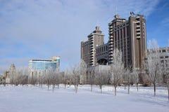 Headquarters of oil the company KazMunaiGaz in Astana Royalty Free Stock Image