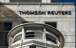 headquarters reuters thomson royaltyfri foto