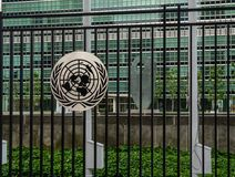 Headquarters of United Nations in New York City royalty free stock photography