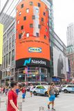 Headqwaters del Nasdaq en el Times Square, New York City foto de archivo libre de regalías