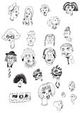 Heads. Hand-drawn collection of strange heads. In this case the image is converted to curves from bitmaps. (If you prefer a bitmap image, you can find it in my Royalty Free Stock Photos