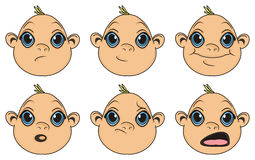 Heads of baby boys Royalty Free Stock Image