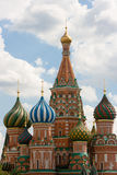 Heads of Cathedral. Heads of the Basils Cathedral, Red Square, Moscow, Russia Royalty Free Stock Photo