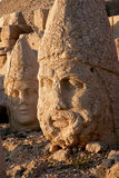Heads of the colossal statues on Mount Nemrut Stock Photography