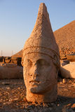 Heads of the colossal statues on Mount Nemrut Royalty Free Stock Photo