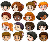 Heads of different people Stock Image