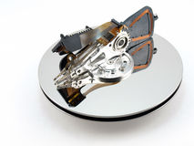 Heads and disk of hard drive Stock Images