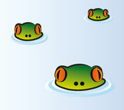 Heads of frog royalty free illustration