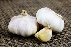 Heads of garlic Royalty Free Stock Images