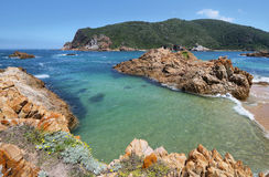 The Heads in Knysna where the lagoon enters the sea Royalty Free Stock Photo