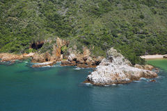 The Heads in Knysna where the lagoon enters the sea Royalty Free Stock Image