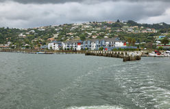 The Heads in Knysna where the lagoon enters the sea Stock Photos