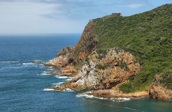 The Heads in Knysna where the lagoon enters the sea Stock Photography