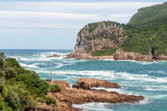 The Heads in Knysna where the lagoon enters the sea Royalty Free Stock Images