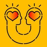 heads mänsklig symbol två Royaltyfri Fotografi