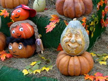 Heads made of pumpkin Pumpkins Family Royalty Free Stock Photography
