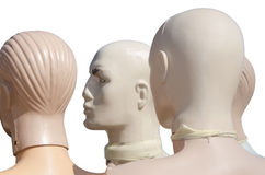 Heads of the mannequins Royalty Free Stock Photography