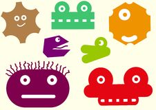 Heads of monsters Royalty Free Stock Images