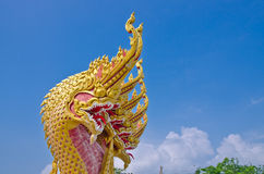 Heads of Naka or Naga or serpent in buddhist Royalty Free Stock Photography