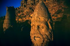 Heads in nemrut dagi turkey Royalty Free Stock Images