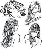 Heads of nice girl Stock Photos
