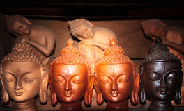Heads Of Buddha Royalty Free Stock Images