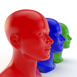 Heads of the people Royalty Free Stock Photography