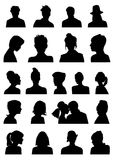 Heads silhouettes Stock Photos