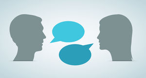 Heads Speech Bubbles Royalty Free Stock Photos