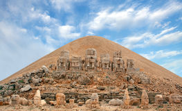 Heads of the statues on Mount Nemrut. In Turkey Royalty Free Stock Photos