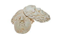 Heads of Zeus and Hera sculptures Royalty Free Stock Photo
