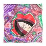 Headscarf met abstract geïsoleerd liefdepatroon Stock Foto's