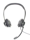 Headset. On white background. Headphone and microphone Royalty Free Stock Photography