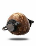 Headset. A cokernut wearing a headphones Stock Images