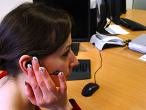 Headset. Internet Communication and support help royalty free stock image