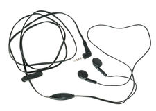 Headset with answer the call button Royalty Free Stock Image
