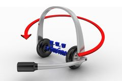 Headset With Arrow And www e commerce text Stock Images