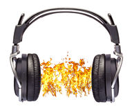 Headset blasting sound Stock Images