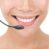 Headset closeup Royalty Free Stock Photography