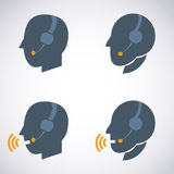 Headset Contact. Live Help. Support icon. vector illustration