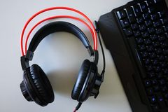 Free Headset-headphones For Games And Communication, Details, Close-up Stock Photo - 141975810